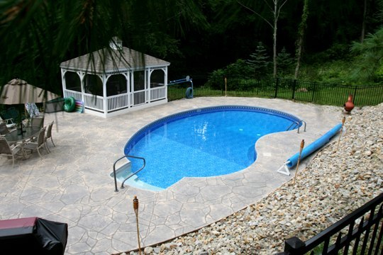 10A Kidney Inground Pool -Somers, CT