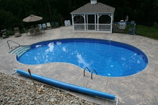 10B Kidney Inground Pool -Somers, CT