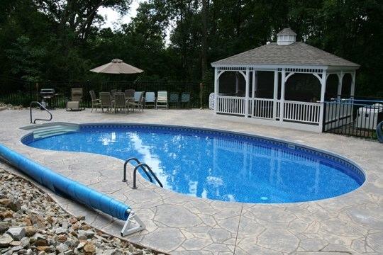 10C Kidney Inground Pool -Somers, CT