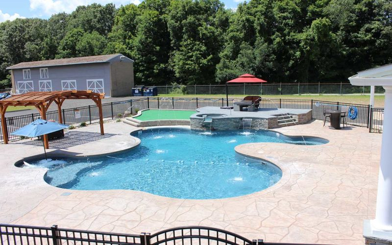 10D Custom Inground Inground Pool - Hebron, CT