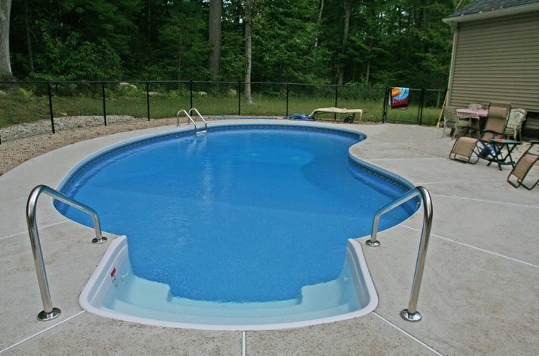 11C Kidney Inground Pool -Northampton, MA