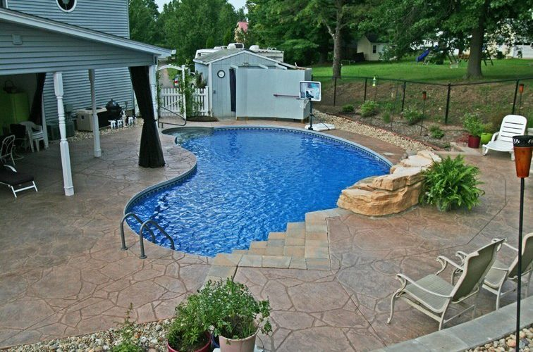 12A Kidney Inground Pool -East Granby, CT