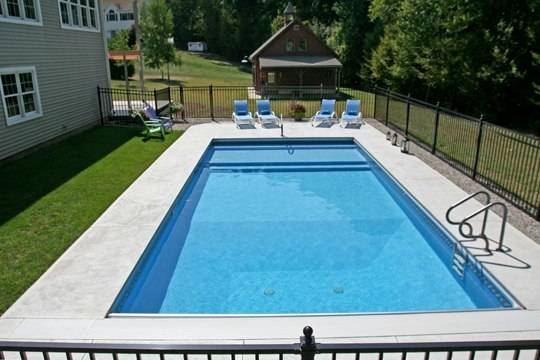 12C Rectangle Inground Pool