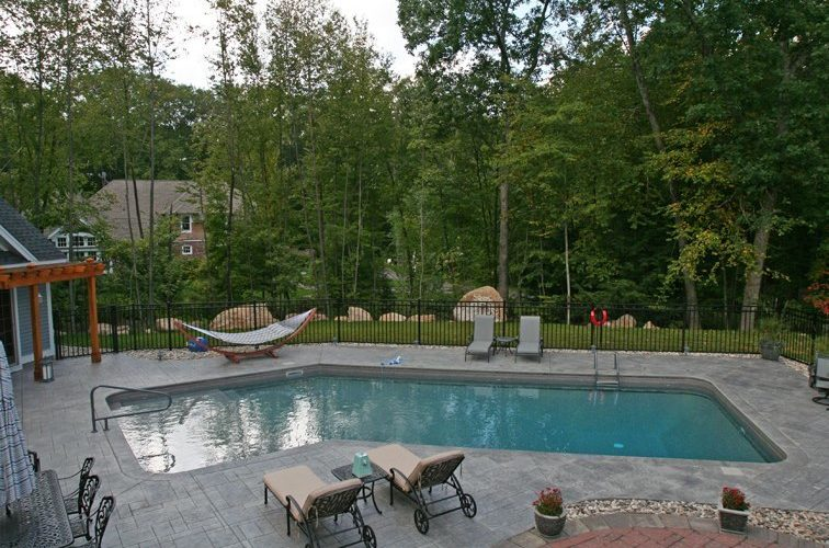 12D Custom Inground Inground Pool - Canton, CT