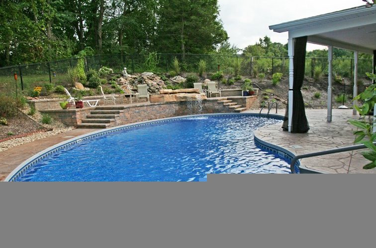 12D Kidney Inground Pool -East Granby, CT