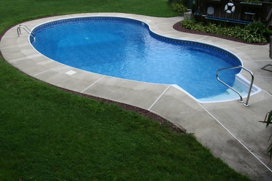 13B Kidney Inground Pool -Somers, CT