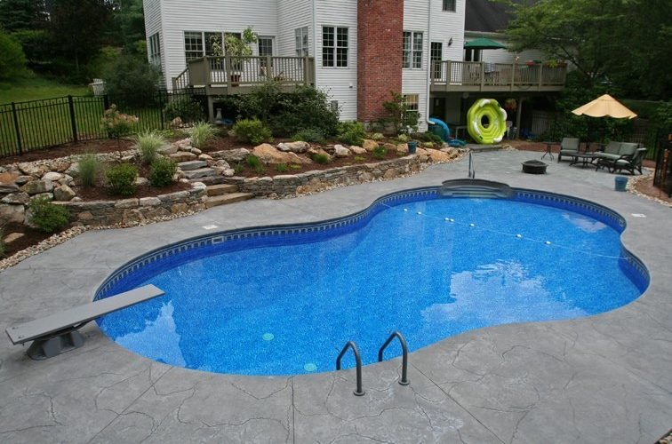 13C Custom Inground Inground Pool - Tolland, CT