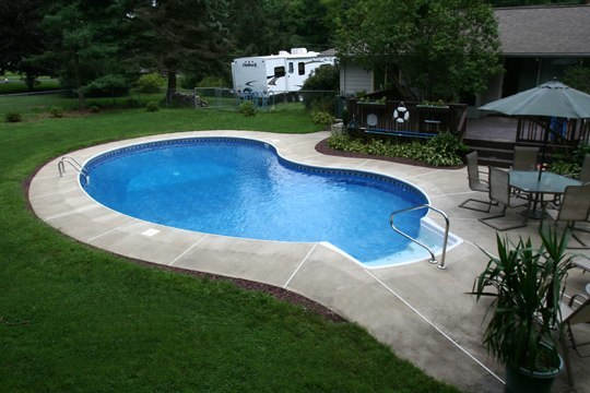 13C Kidney Inground Pool -Somers, CT