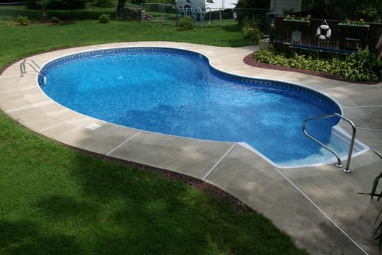 13D Kidney Inground Pool -Somers, CT