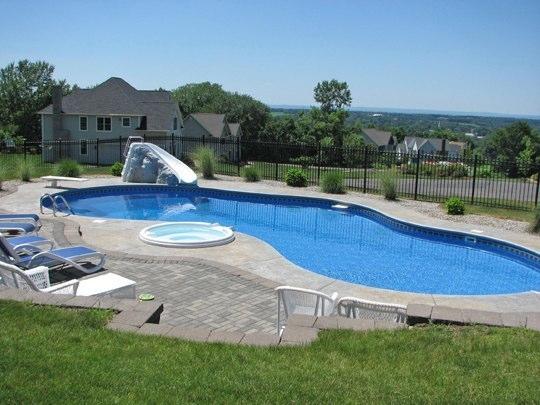 17A Custom Inground Inground Pool - Ellington, CT