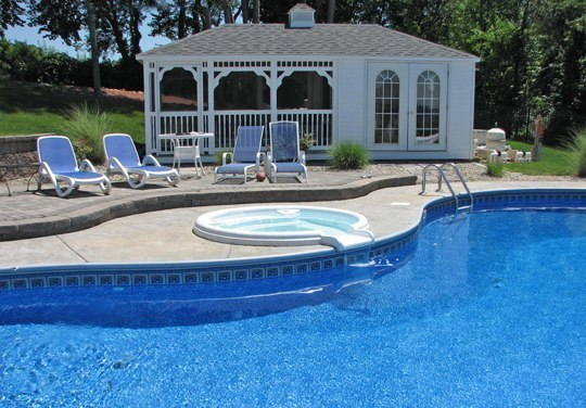 17B Custom Inground Inground Pool - Ellington, CT