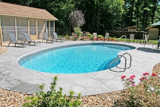 1A Kidney Inground Pool - Stafford, CT
