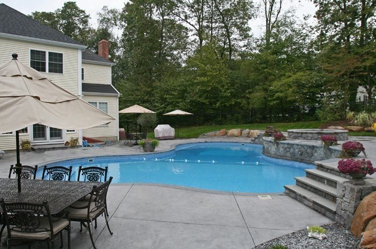21B Custom Inground Inground Pool - Glastonbury, CT