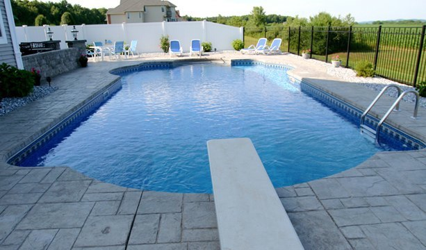 22D Custom Inground Inground Pool - Somers, CT