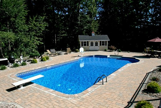 26A Custom Inground Inground Pool - Tolland, CT