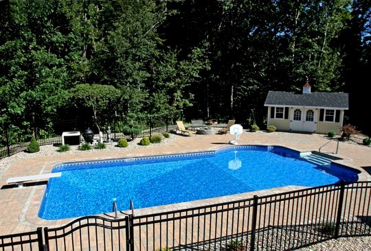 26B Custom Inground Inground Pool - Tolland, CT