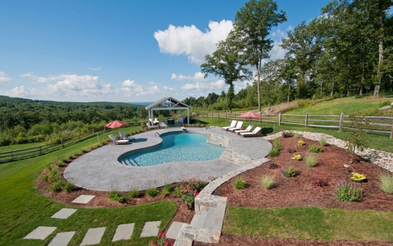 28A Custom Inground Inground Pool - Canton, CT