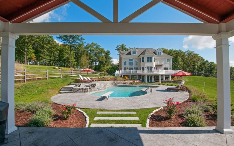 28B Custom Inground Inground Pool - Canton, CT