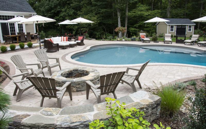 2C Custom Inground Pool - Tolland, CT