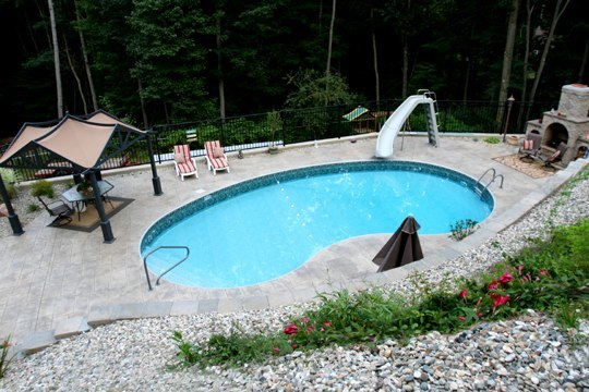2D Kidney Inground Pool - Russell, MA