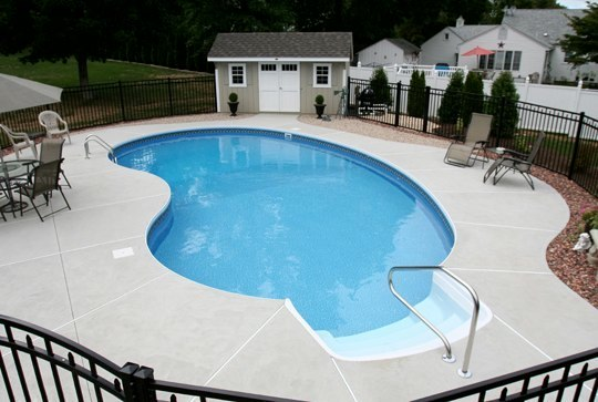 3D Kidney Inground Pool - Wethersfield, CT