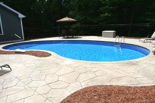 4C Kidney Inground Pool - Tolland, CT