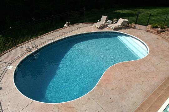 6B Kidney Inground Pool -Somers, CT
