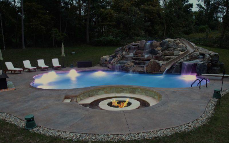 7C Custom Inground Pool - Tolland, CT