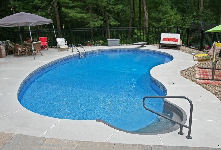 7D Kidney Inground Pool -East Longmeadow, MA