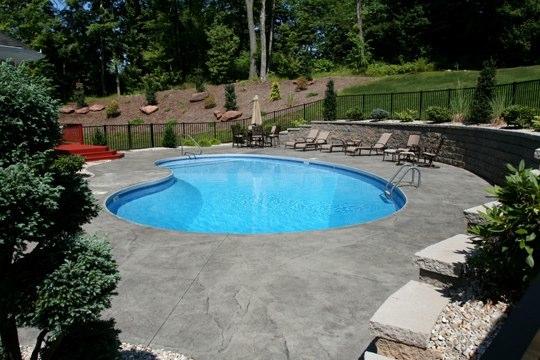 8C Kidney Inground Pool -South Windsor, CT