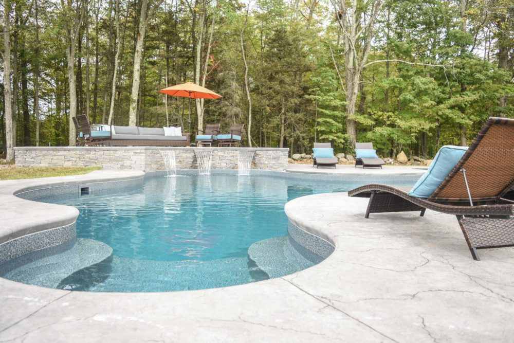 8D Custom Inground Inground Pool - Hebron, CT