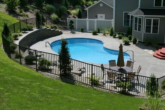 8D Kidney Inground Pool -South Windsor, CT