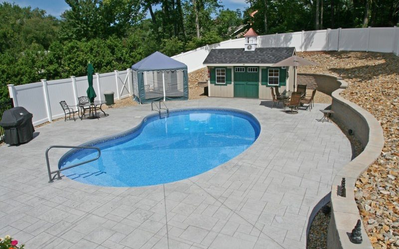9A Kidney Inground Pool -Vernon, CT