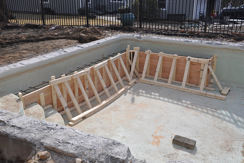 This is a photo of a pool gunite resurfacing project in Avon, CT.