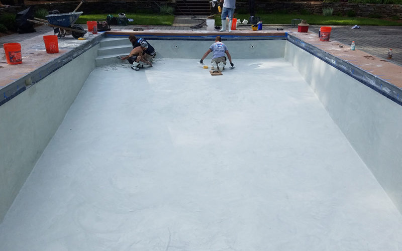 This Is A Photo Of A Pool Gunite Resurfacing Project In Longmeadow, MA